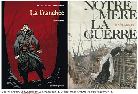 Adam, Cady, Marchetti, La Tranchée, et Maël, Kris, Notre Mère la Guerre (couvertures).