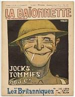 Gus Bofa, Une de La Baïonnette, n° 123, 8 novembre 1917