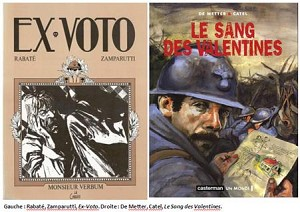Rabaté, Zamparutti, Ex-Voto, et De Metter, Catel, Le Sang des Valentines (couvertures).